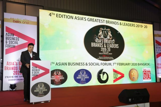 AsiaOne – Asian Business Awards – Bangkok 2020